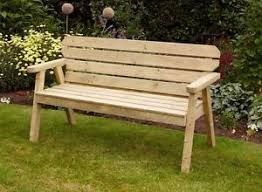 rustic garden furniture. Image Is Loading HGG-Wooden-Rustic-Garden-Bench-5ft-Outdoor-Patio- Rustic Garden Furniture