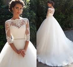 vintage lace ball gown wedding dresses 2016 milla nova three