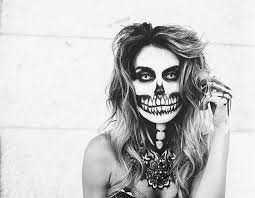 skeleton make up o fashion