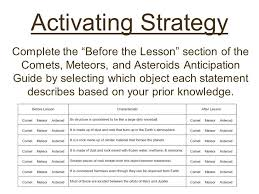 Comets Meteors And Asteroids Venn Diagram Other Than The Sun Planets And Moon What Other Objects Are Found