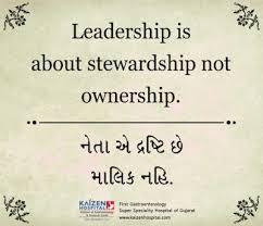 Stewardship Quotes Daily Quotes Kaizen Hospital Quotes of thd Day Leadership is 16
