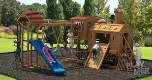 wood playground set clack station children s wooden play sets tree houses wood swing sets