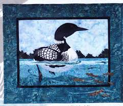 17 Best images about focw quilt on Pinterest | Batik quilts, Wall ... & PATTERN - Day at the Lake - applique & pieced duck wall quilt PATTERN Adamdwight.com