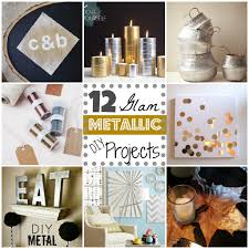 Diy Projects 12 Metallic Glam Diy Projects