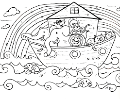Small Picture Bible Story Coloring Sheets For Preschoolers With Christian Within