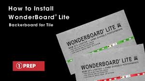how to install wonderboard lite backerboard for tile