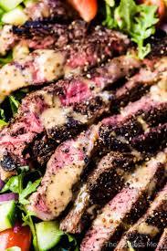 Cooking Light Seared Sliced Beef Sirloin 14 Oz Best Steak Salad With Creamy Balsamic Vinaigrette The