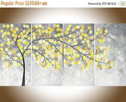 ... Interesting Decoration Yellow And Grey Wall Art Roselawnlutheran ...