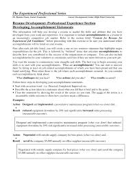 Examples Of Accomplishments For Resume Professional Resume Templates