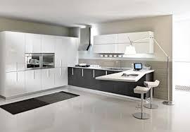 modern kitchen black and white. White Modern Kitchen Designs With Rug Black And H