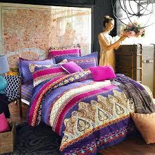 boho bed sets f33219 hot pink purple and rust orange chevron stripe and paisley pop print boho bed sets h10166 bedding
