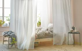 Canopy bed curtains wtih VIDGA