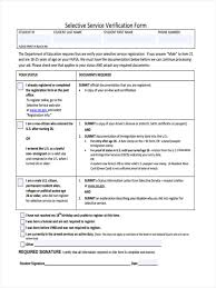 8 Selective Service Form Sample Free Sample Example Format Download