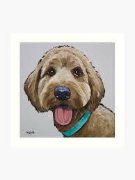 Goldendoodle Size Chart Sweet Goldendoodle Art Golden Doodle Art Art Print