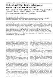 Pdf Carbon Black High Density Polyethylene Conducting