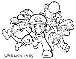 Small Picture Nintendo Coloring Pages
