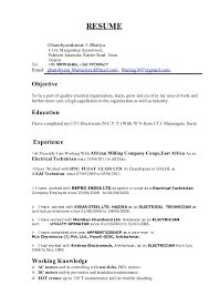 Sample Of Electrician Resumes Construction Electrician Resume Sample