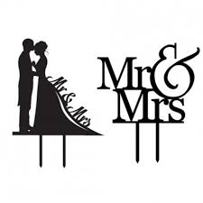 Forusky Acrylic Insert Card Mr Mrs Groom And Bride Topper Wedding Cake Decoration Topper For Wedding Special Events