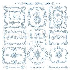christmas menu borders christmas new year decor elements set vintage wextor frames borders