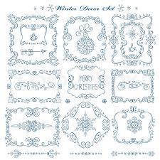 christmas menu borders christmas new year decor elements set vintage wextor frames borders