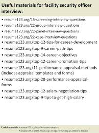 Security Job Resume Samples Useful Materials For Facility Security