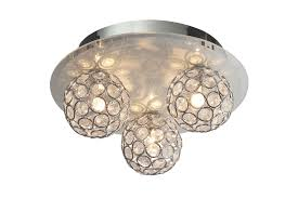 Chameleon Crystal Circle Colour Changing 3 Lamp Ceiling Light | Departments  | DIY at B&Q