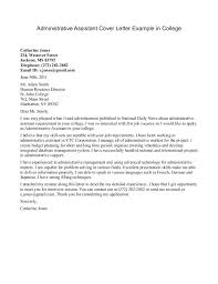 Sample Office Administration Cover Letter Yomm