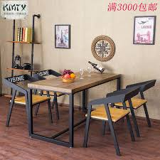 wood and wrought iron furniture. American Country Vintage Wrought-iron Furniture Dining Table Hotel Restaurant Cafe Snack Wood And Wrought Iron O