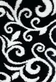 black white area rug black white fl plush area rugs black and white striped area