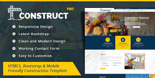 Construction Website Templates Custom Construct Templates From ThemeForest