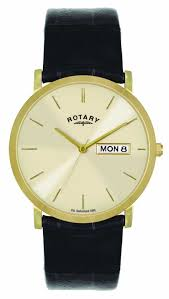 rotary mens gold plated leather watch gsi02624 03 dd rotary gsi02624 03 dd