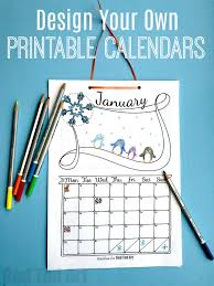 Free Cute Printable Calendar 2019 Red Ted Arts Blog