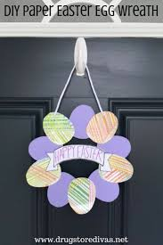 ad looking for an easy easter craft this diy paper easter egg wreath is