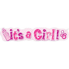 Paper Its A Girl Baby Shower Banner 4 5 Ft Pink 1ct Walmart Com