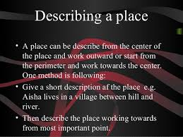 descriptive essay describing a place