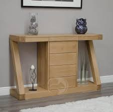 wooden console table. Z Shape Solid Oak Large Hall/ Console Table With Drawers Wooden N