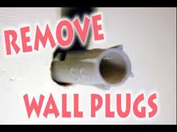 how to remove wall plug raw plug