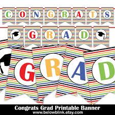 Congrats Grad Printable Banner Graduation Banner Etsy Congrats Grad