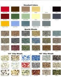 Epoxy Garage Floor Color Chart Popular Epoxy Floor Color D C F Y Metallic Chart Vero Beach