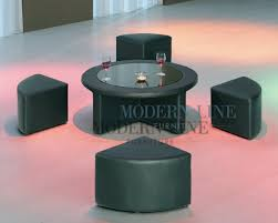 modern coffee table with stools