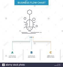 Web Chart Template Bug Insect Spider Virus Web Business Flow Chart Design