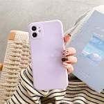 <b>Solid Colored Silicone Case</b> for iPhone 12 11 Pro Max X Xs Xs Max ...