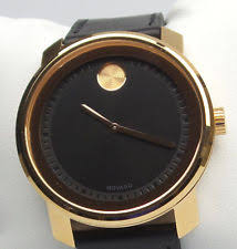 movado men s watches new used luxury vintage movado bold 3600376 men s rose gold case black dial leather strap watch 595 new