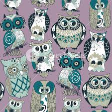 Owl Pattern New Seamless Owl Pattern RoyaltyFree Stock Image Storyblocks