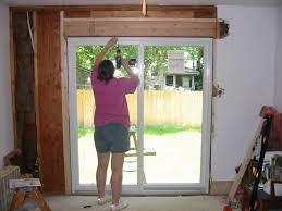 attractive sliding patio door installation door how to install a sliding patio door theflowerlab interior