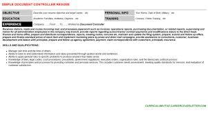 Document Controller Resume Cover Letter Cv Letters Resumes