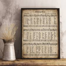 printable vintage sheet music amazing grace print printable vintage sheet music instant