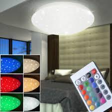 In welchen stilrichtungen gibt es wohnzimmerlampen? Rgb Led Decken Leuchte Funkel Lampe Wohnzimmer Fernbedienung Beleuchtung Dimmbar Ebay