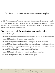 Construction Resume Sample Free Top10000constructionsecretaryresumesamples1005051006100100100910010000lva100app6100009100thumbnail100jpgcb=100100310077521000 91