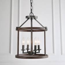 Entryway Lighting Pendants Lnc Pendants Faux Wood Drum Pendant Lights Foyer Lantern 4